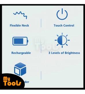 Mytools Multifunctional LED Touch Desk Lamp & Pen Holder 1200mAh Ultralight Rechargeable Dimmable Eye-Caring White Light Bedroom Table Lamp