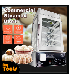 Mytools 5 Layers Stainless Steel Electric Food Steamer Pao Bun Display Food Warmer Showcase 1200W