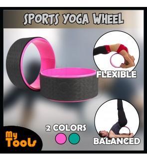 (READY STOCK) Mytools Professional Yoga Circle Waist Bodybuilding Pilates Gym Workout Back Training Yoga Wheel Training Tool For Fitness Yoga
