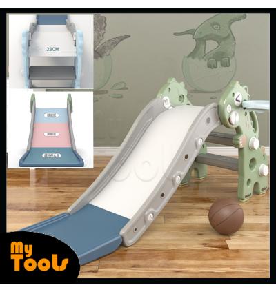 (READY STOCK) Mytools Mini Dragon Foldable Children Playground Slide Indoor Baby Toddler Toy Slides Playset Papan Gelongsor