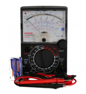 Sunwa Analog Multimeter Multi Meter Tester With Buzzer & LED Continuity Check