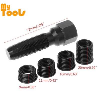 Mytools 14mm Spark Plug Rethread Rethreader Repair Tap Tool Reamer Inserts Kit