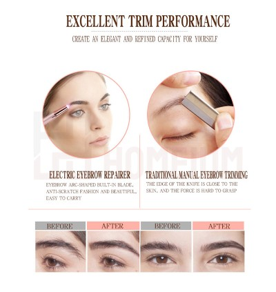 Mytools Flawless Brows Painless Face Eyebrows Hair Remover Electric  Hair Trimmer Shaping Knife Random Colour