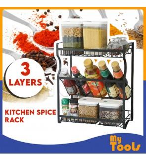 Mytools Kitchen Spice Rack Stainless Steel 3 Layers Condiment Rack Seasoner Rack Seasoning Storage