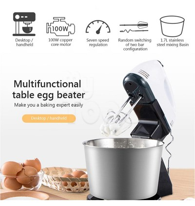 Mytools Scarlett Super 7 Speed Hand Mixer 2L Detachable Stainless Steel / Plastic Bowl Egg Beater Mesin Pengadun