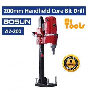 BOSUN ZIZ-200 200mm Handheld Core Bit Drill Drilling Machine - 6 Months Warranty
