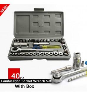 Aiwa 40pcs Combination Socket Wrench Sleeve Set Vehicle Repair Tool Kit