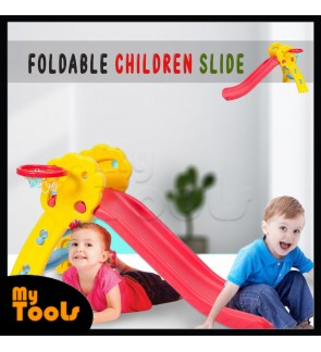 Foldable Children Slide with Basketball and Net (Extra Long 120±cm)