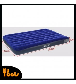 Intex Inflatable Flocked Air Bed Mattress Single Twin Queen