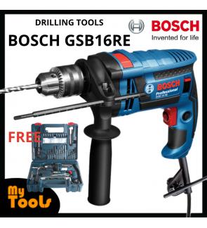 "Bosch GSB16RE/ GSB 16RE 701W 13mm (1/2"") Impact Drill C/W Full Accessories Set"