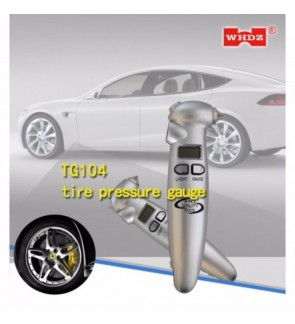 Portable Digital LCD Tyre Pressure Gauge with Flashlight, cutter knife and hammer